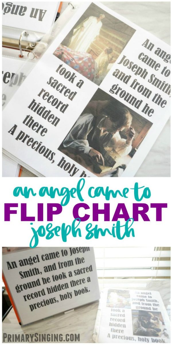 Angel Came to Joseph Smith - Flip Chart for LDS Primary Music Leaders and choristers! Singing Time essential. #lds #imamormon #Primary #musicleader #primarychorister #chorister #flipchart