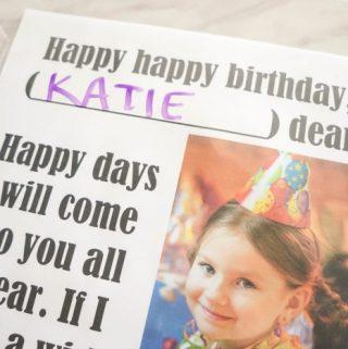 Flip Chart: Happy, Happy Birthday