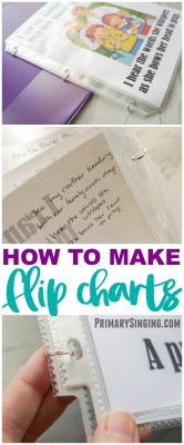 How to Make Flip Charts for Primary Singing Time