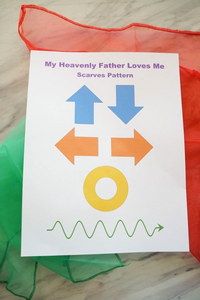 My Heavenly Father Loves Me - Singing Time Lesson plan using scarves! For Primary music leaders / choristers including printable.