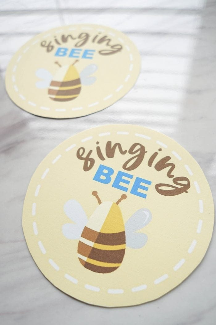 Singing Bee game and directions for teaching alongside When I Am Baptized song for Singing time lesson plans for primary choristers / music leaders. #LDS #Primary #MusicLeaders #PrimaryChorister #Chorister #ImaMormon #SingingTime