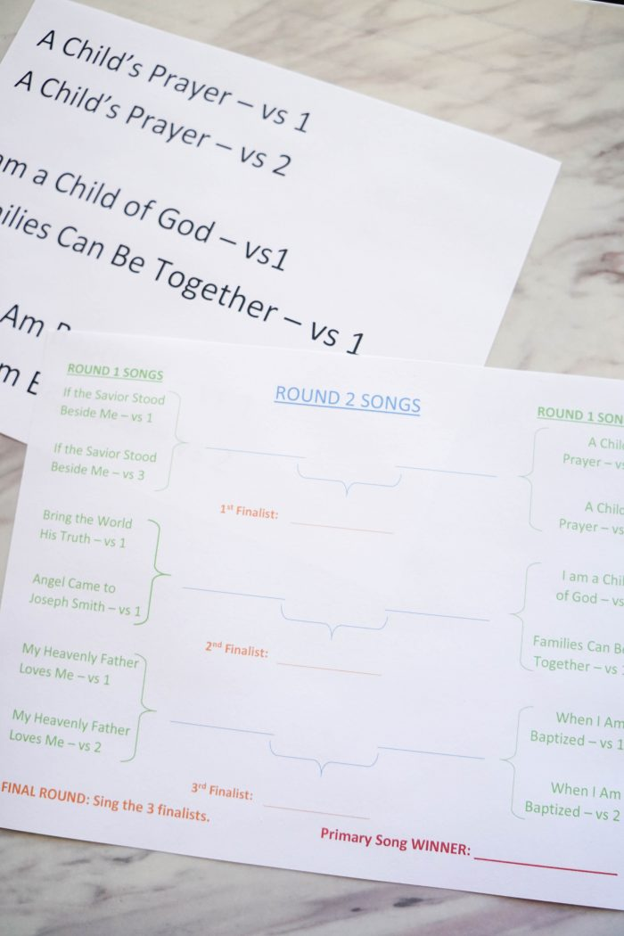 March Madness review game and for Singing time lesson plans for primary choristers / music leaders. #LDS #Primary #MusicLeaders #PrimaryChorister #Chorister #ImaMormon #SingingTime