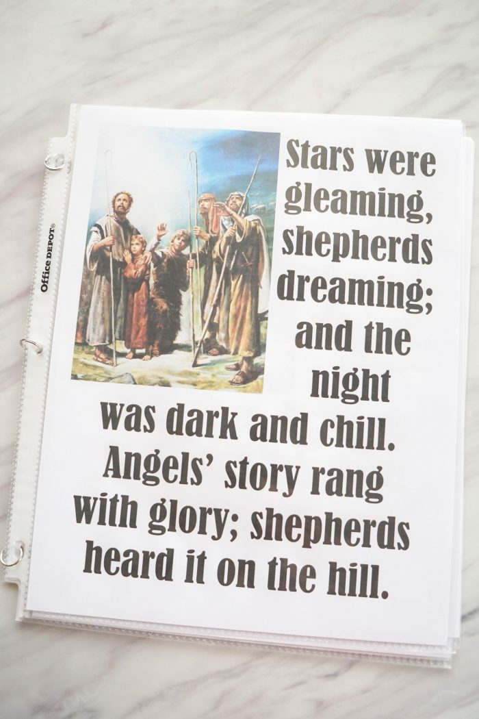Stars Were Gleaming Christmas song printable Flip Chart for Singing time for primary choristers / music leaders. #LDS #Primary #MusicLeaders #PrimaryChorister #Chorister #ImaMormon #SingingTime