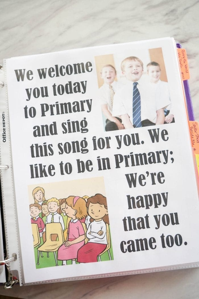 We Welcome You to Primary printable Flip Chart for Singing time for primary choristers / music leaders. #LDS #Primary #MusicLeaders #PrimaryChorister #Chorister #ImaMormon #SingingTime