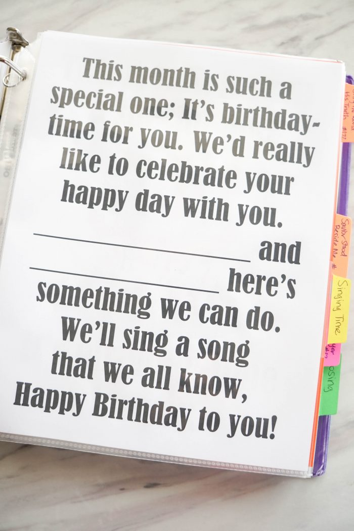 Your Happy Birthday printable song Flip Chart for Singing time for primary choristers / music leaders. #LDS #Primary #MusicLeaders #PrimaryChorister #Chorister #ImaMormon #SingingTime