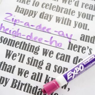 Flip Chart: Your Happy Birthday