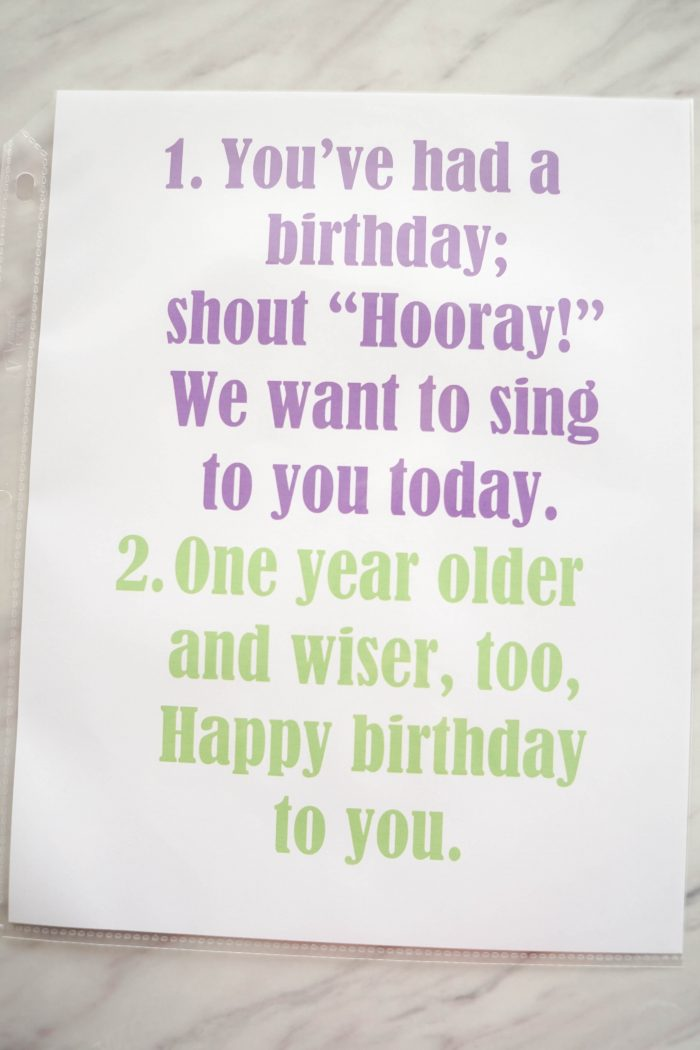 You've Had a Birthday printable song Flip Chart for Singing time for primary choristers / music leaders. #LDS #Primary #MusicLeaders #PrimaryChorister #Chorister #ImaMormon #SingingTime