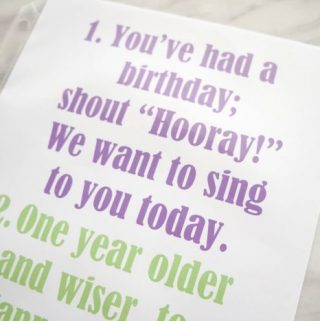 Flip Chart: You've Had a Birthday
