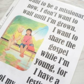 Flip Chart: I Want to Be a Missionary Now