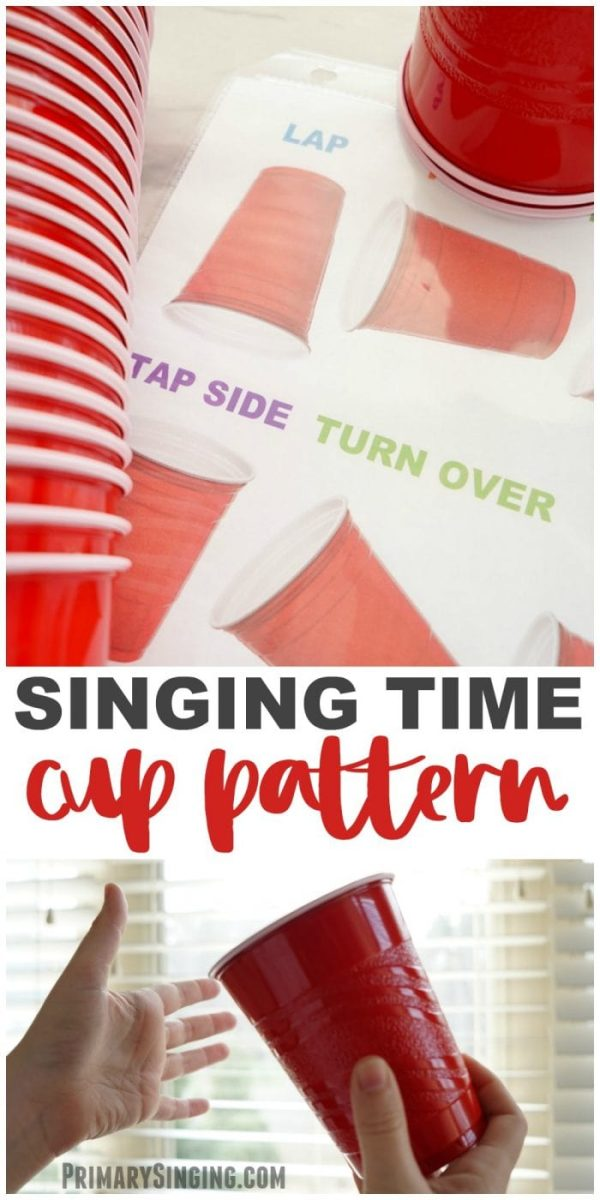 Primary Singing Time Cup Pattern game for We'll Bring the World His Truth. LDS Primary Choristers / Music Leaders lesson plan and easy ideas! #PrimarySinging #LDS #Primary #PrimaryChorister