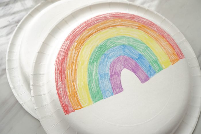 When I Am Baptized Paper Plate Pattern movement / instrument activity for LDS Primary Singing Time - a easy low prep lesson plan for Primary Choristers #PrimarySinging #LDS #Primary #SingingTime