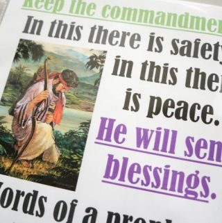 Flip Chart: Keep the Commandments