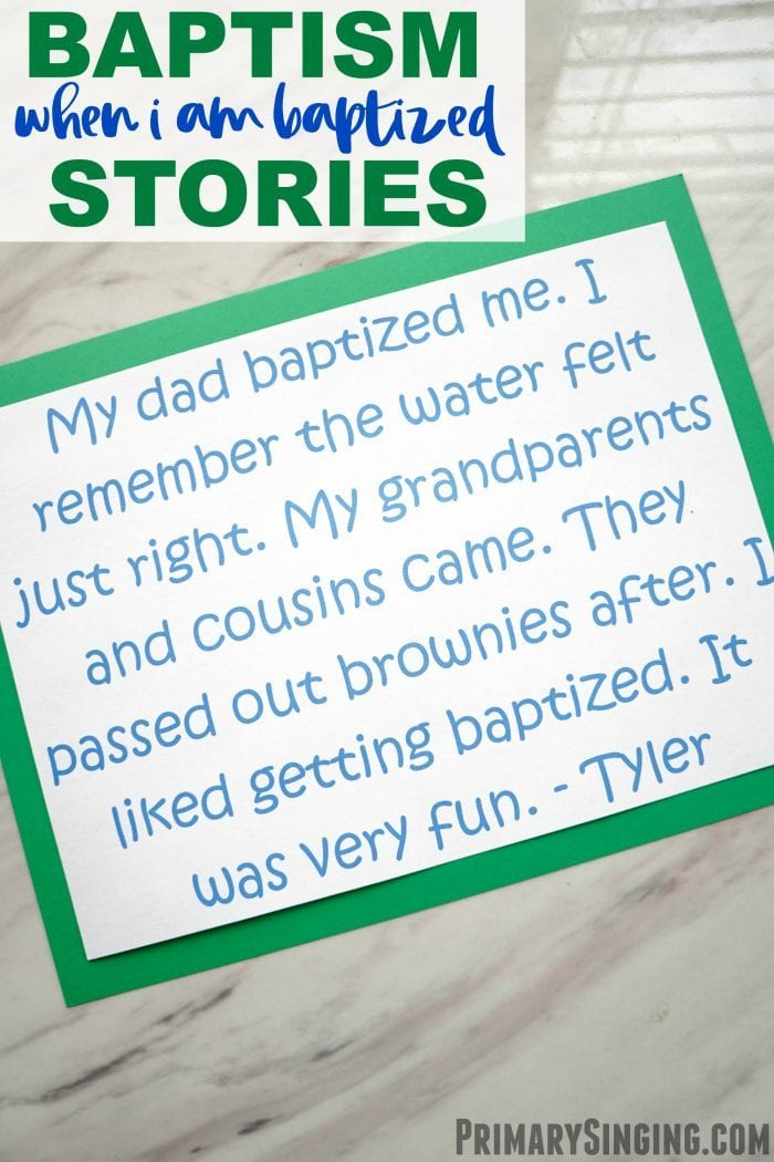 When I Am Baptized Baptism Stories Lesson Plan for singing time Primary choristers / music leaders easy idea! #PrimarySinging #LDS #SingingTime #PrimaryChoristers #Primary