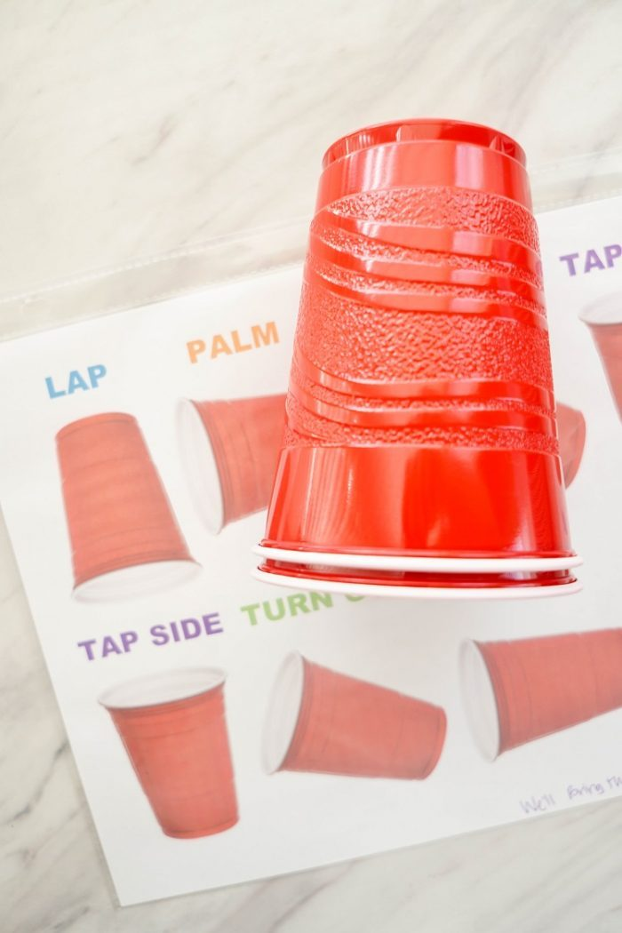 Singing Time Cup Pattern