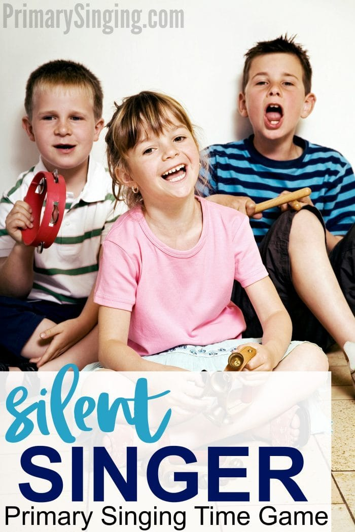 Silent Singer Game for Primary Singing Time - a perfect review game for LDS Primary Choristers #LDS #PrimaryChoristers #PrimarySinging #SIngingTime #Primary #ImaMormon #FHE