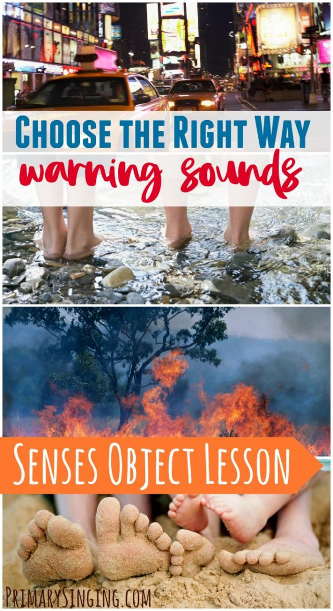 Choose the Right Way Warning Sounds Object Lesson - This engaging idea for LDS Primary Music Leaders or for use in the home will help you connect the lesson plan with your audience in a meaningful way!