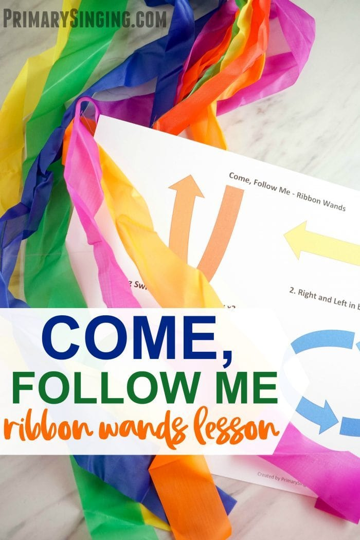 Teach the hymn Come, Follow Me for Primary Music Leaders or also a fun engaging activity for LDS families for home bible study! Free lesson plan and printable.