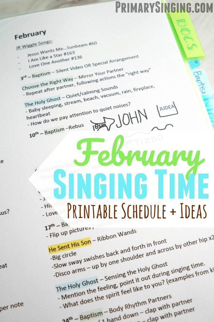 Primary Singing Time Lesson Plans, Ideas and Activities for February 2019 - Come, Follow Me New Testament! A helpful resource for LDS Primary Music Leaders and for home bible study families, as well!