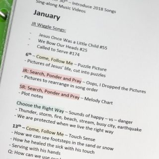 Singing Time Monthly Plan – January 2019