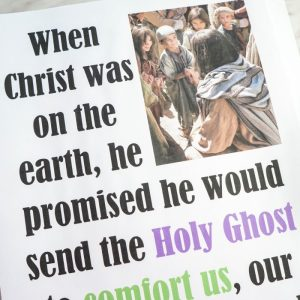 The Holy Ghost LDS Primary Song flip chart - Find this free printable and other resources and activities for Primary Singing Time music leaders!