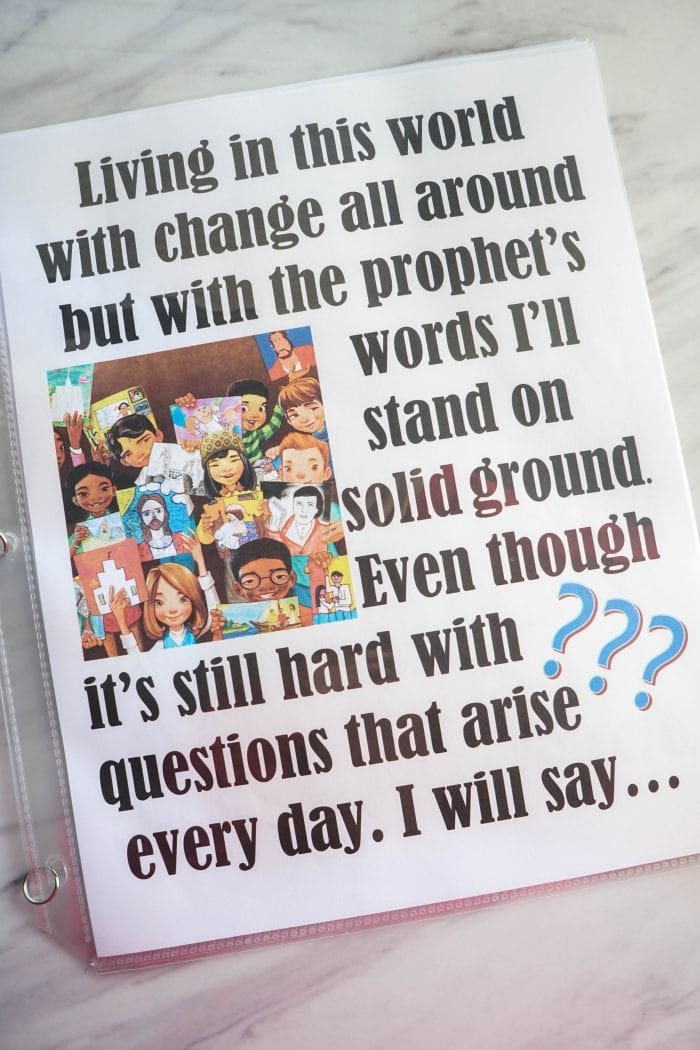 I Will Be What I Believe – Flip Chart