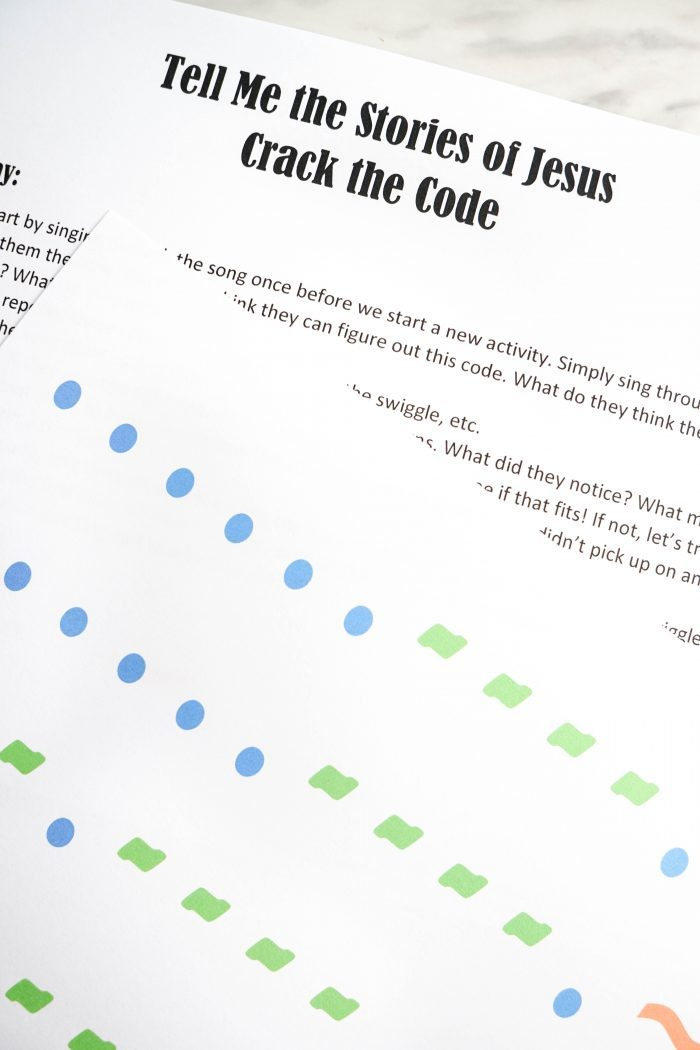 Tell Me the Stories of Jesus Crack the Code -- Primary Singing Time activity, game, idea for Singing Time! Or use it as a fun Come Follow Me activity for LDS families!