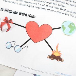 I Feel My Savior's Love Word Map