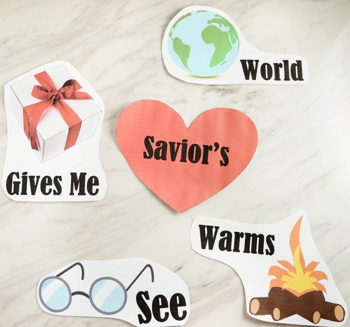 I Feel My Savior's Love - Word Map activity, idea, game and lesson plan for Primary Singing Time! Perfect for LDS Music Leaders or even for home study of Come, Follow Me!