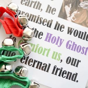 The Holy Ghost - Jingle Bells - Primary Singing Time activity and lesson plan for LDS Music Leaders or for a fun activity for home study of Come, Follow Me!