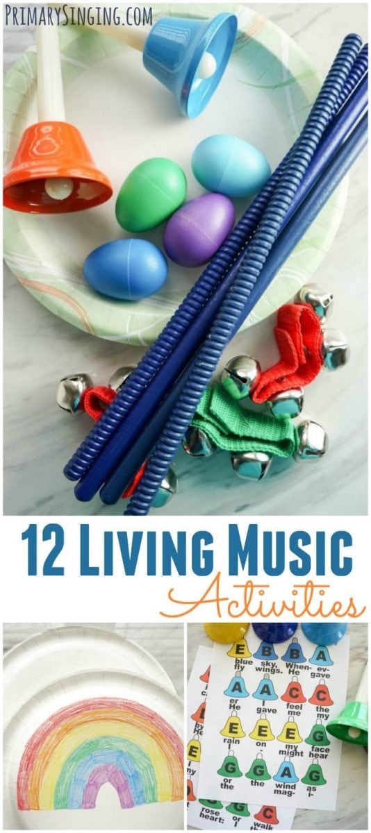12 Living Music Activities for LDS Primary Music Leaders Singing Time - lesson plans and activities that can be used for any song!