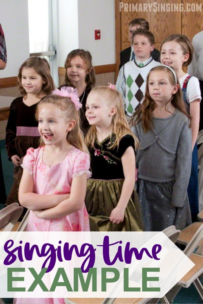 See an example format of using 2-3 different activities to fill your singing time! Use a variety of activities and learning styles to teach the Primary songs in a meaningful way. Perfect for LDS Primary Music Leaders and Presidencies.