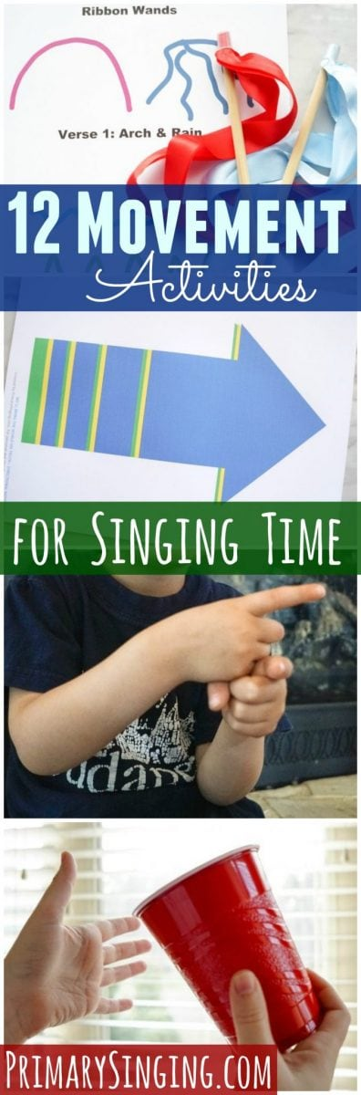 12 Purposeful movement activities, ideas, and lesson plan examples for LDS Primary Music Leaders or other Singing Time instructors! Teach music with movement and games!