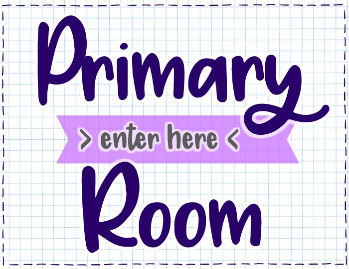 Primary Room Entrance Sign