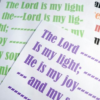 The Lord is My Light – Flip Chart