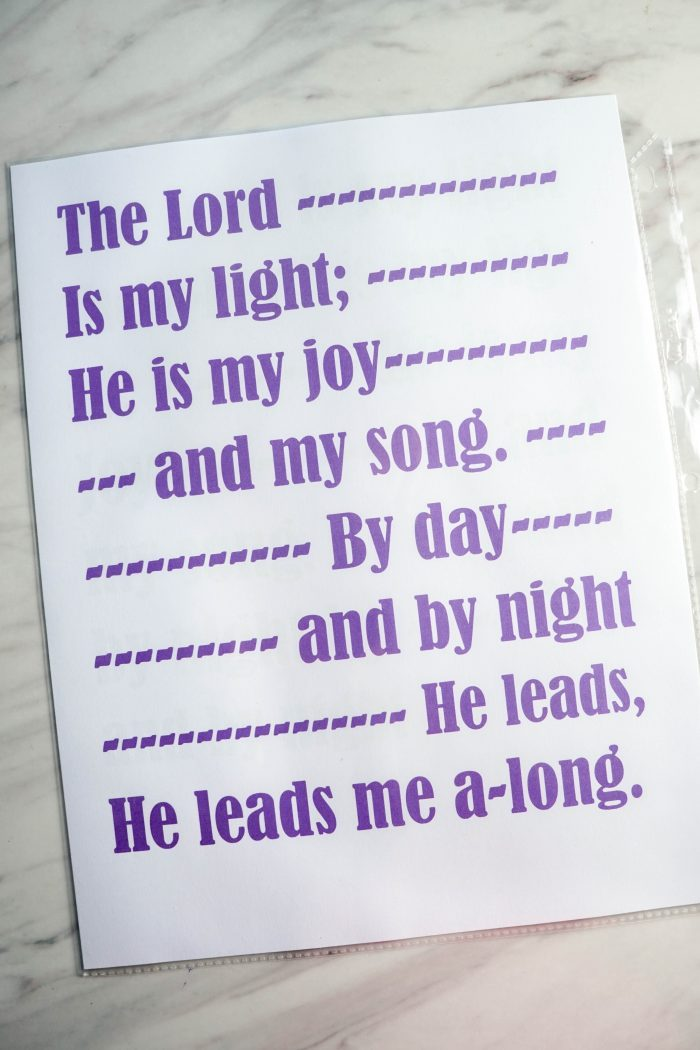 The Lord is My Light Hymn Flip Chart
