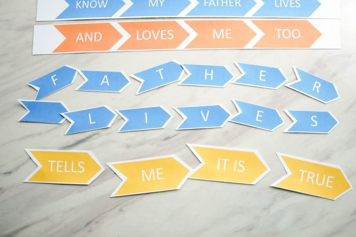I Know My Father Lives printable Letter and Word Puzzles! An easy lesson plan or game / activity for LDS Primary Music Leaders and for Come Follow Me home study!