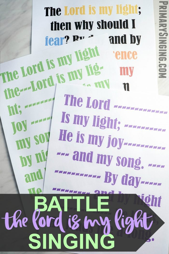 Teach the fun hymn The Lord is My Light with this engaging Battle Singing activity! You'll challenge the kids to compete and tie in an important message about the Savior. Perfect activity for LDS Primary Singing Time Music Leaders or fun for home Come, Follow Me bible study!