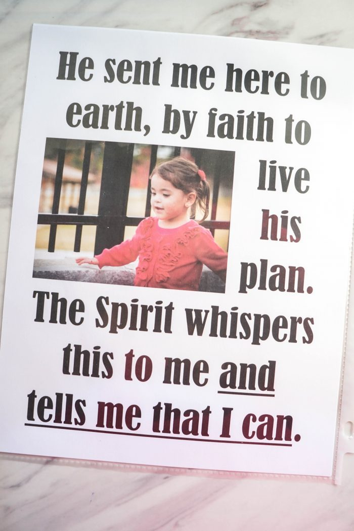 I Know My Father Lives Flip Chart for LDS Primary Music Leaders Singing Time. Free printable resource.