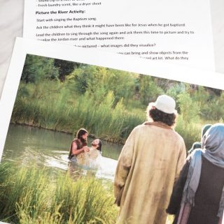 Baptism Song - Picture the River lesson plan and activity for Primary Singing Time music leaders and for home Come, Follow Me study for LDS families!
