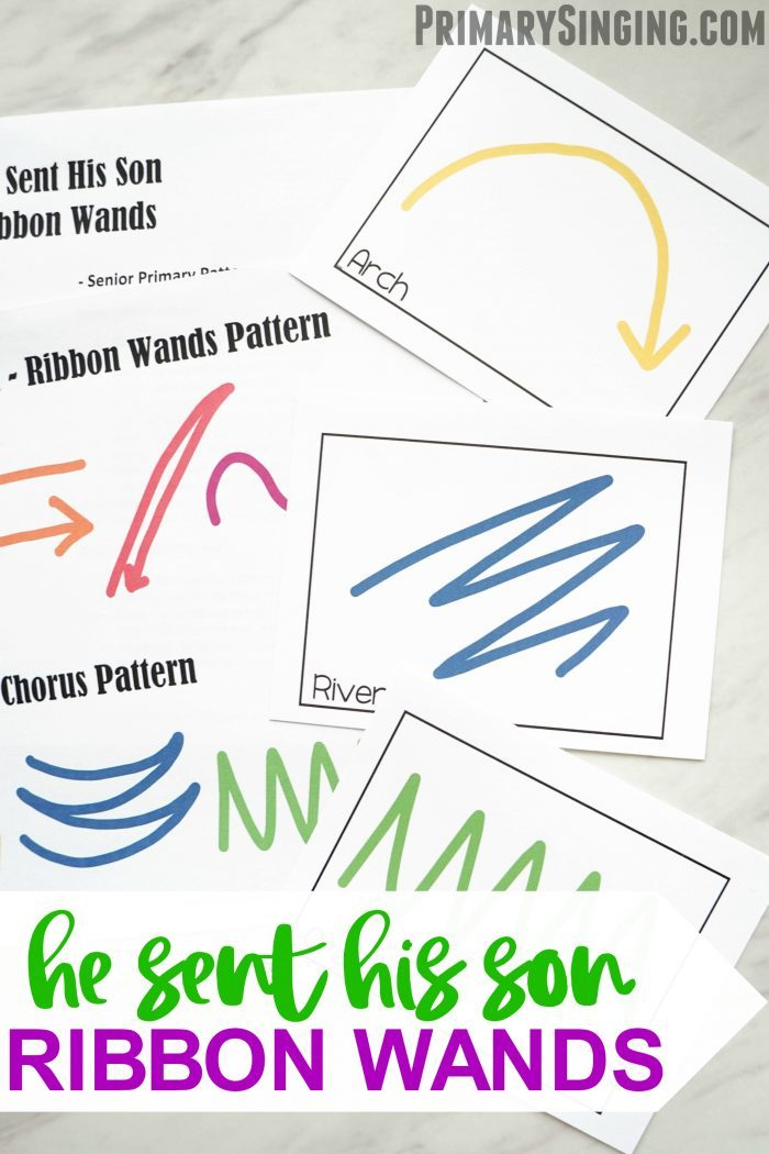 He Sent His Son Ribbon Wands Activity for LDS Primary Singing Time ideas and lesson plan for music leaders and choristers! A fun movement activity for Come, Follow Me study, as well.