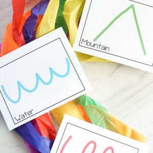 Printable ribbon wand action cards for singing time and music activities! Or great for movement break from learning! Created for LDS Primary Music Leaders and families to correlate with my free lesson plans!