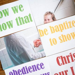 Baptism Song Concentration - a Primary Singing Time game and activity perfect for learning the song! #lds #primary #singingtime #baptism