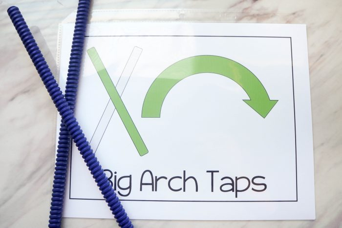 Big Arch Taps Rhythm Sticks Action Card