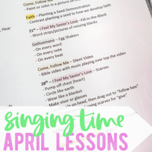 Singing time lessons april