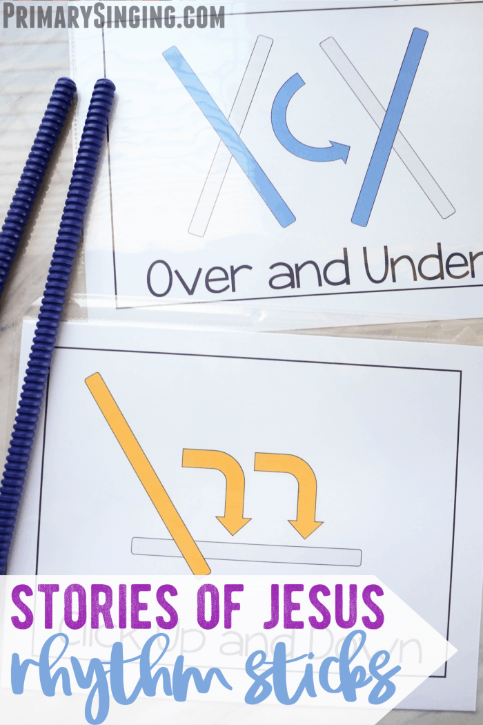 Tell me the Stories of Jesus Rhythm Sticks lesson plan