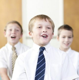 Boys singing in Primary Singing Time
