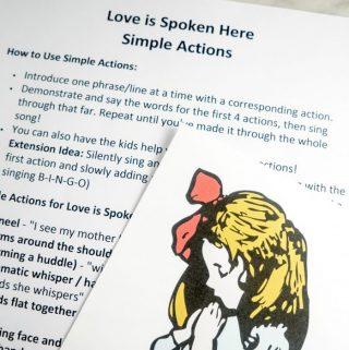 Love is Spoken Here Simple Actions