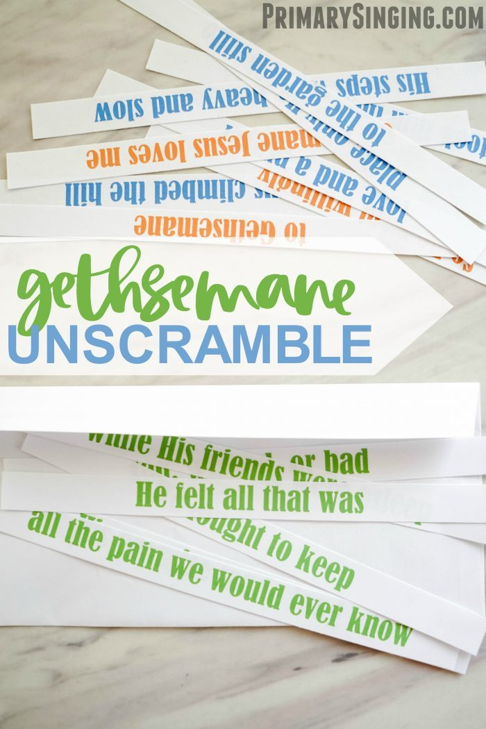 Gethsemane Lyrics Unscramble