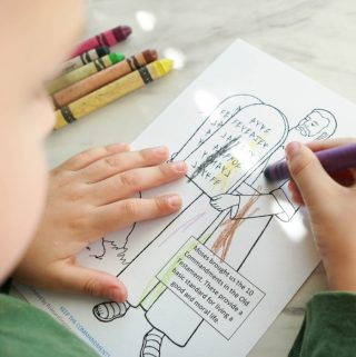 Keep the Commandments Coloring Pages