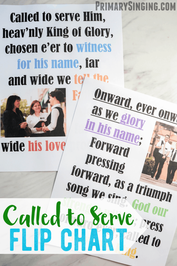 Called to Serve - Flip Chart